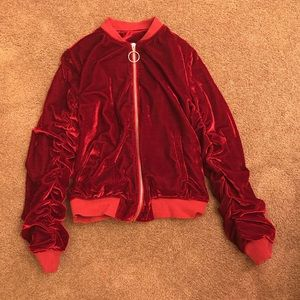 Red Bomber Jacket size:M